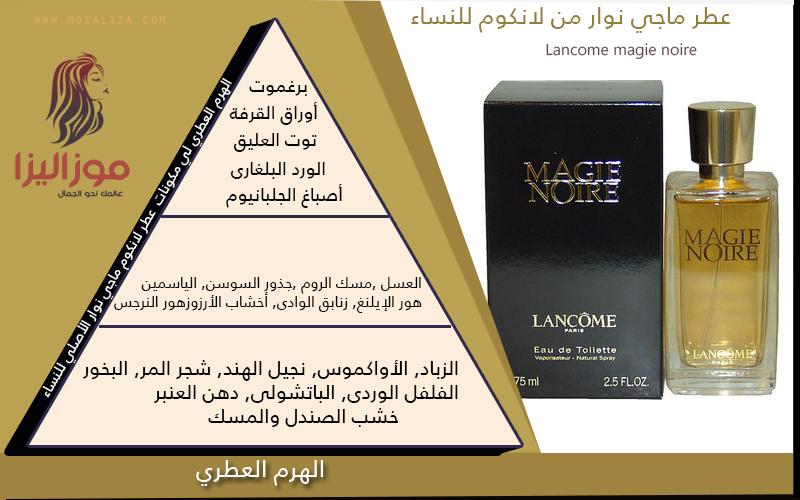 b79170ccc عطر لانكوم ماجي نوار الاصلي للنساء Magie Noire Lancome   موزاليزا